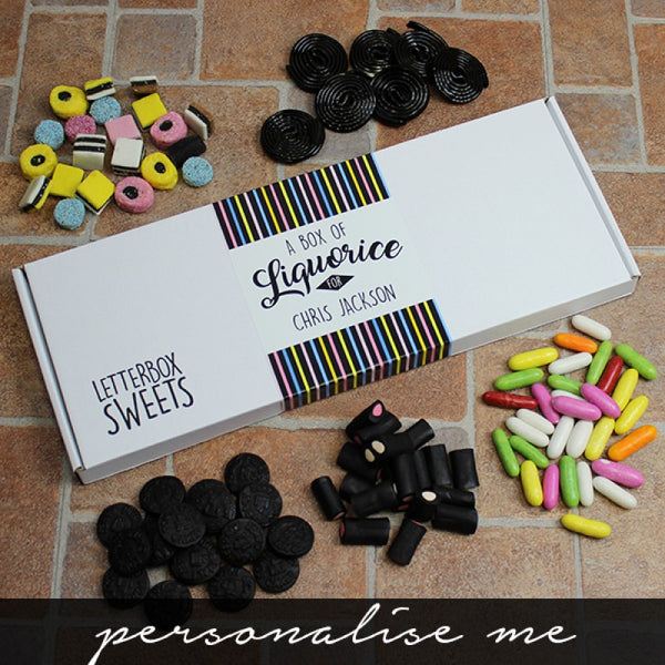 Personalised Liquorice - Letterbox Sweets