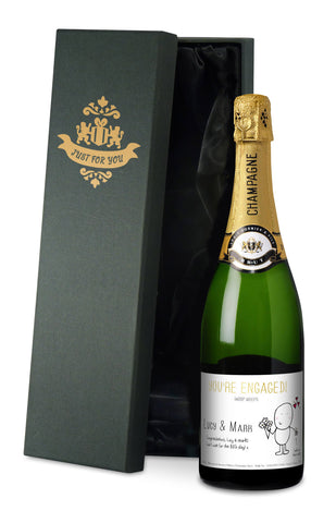 Personalised Chilli & Bubbles Engagement Champagne