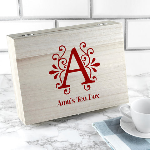 'Love Chai' Tea Box With Initial | ShaneToddGifts.co.uk