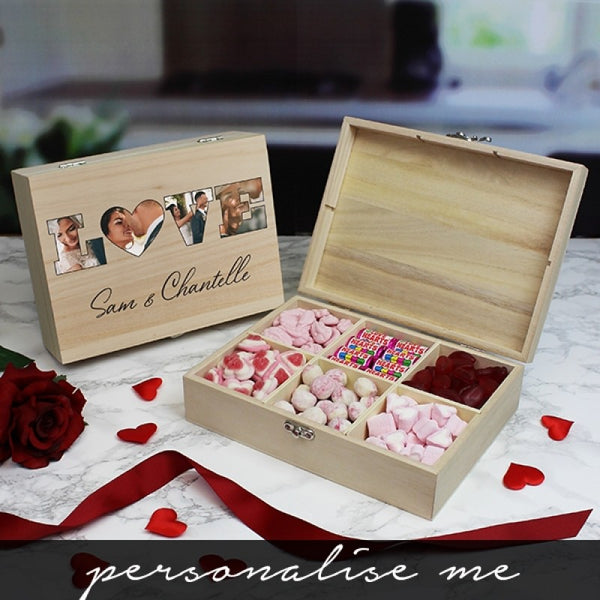 'LOVE' Photo Gift - 6 Compartment Sweet Box