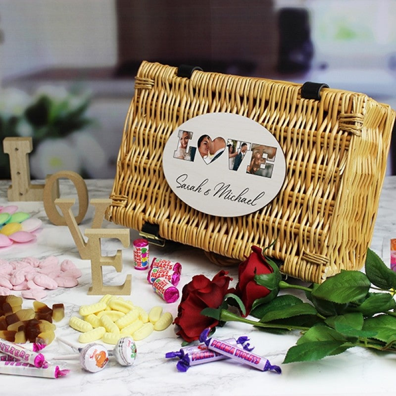 'LOVE' Photo Gift - Retro Sweet Hamper, Food Items by Low Cost Gifts
