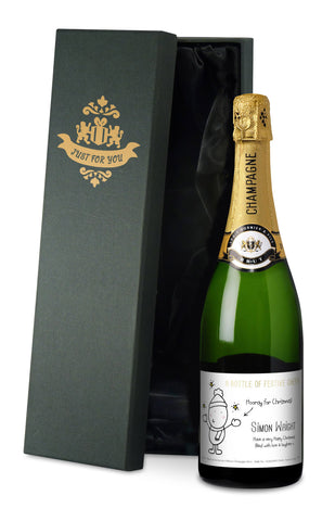 Personalised Chilli & Bubbles Christmas Champagne