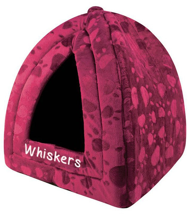 Personalised Maroon Pyramid Pet Bed, Pet Bed Accessories by Low Cost Gifts