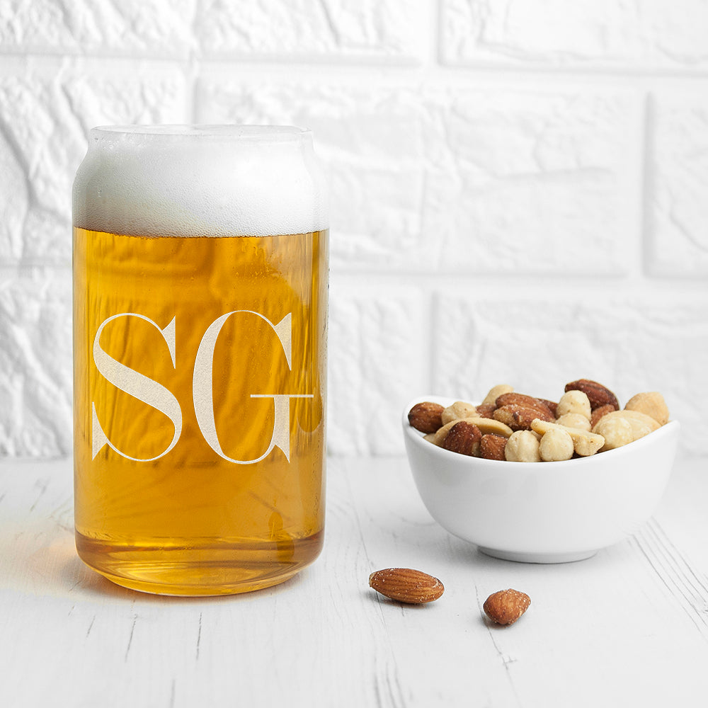 Monogrammed Can Glass, Kitchen & Dining by Gifts24-7