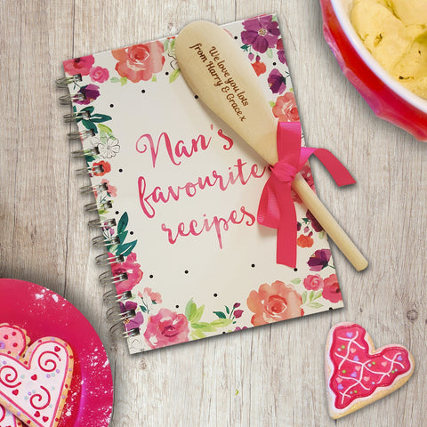 Nan's Favourite Recipe Book and Spoon | ShaneToddGifts.co.uk