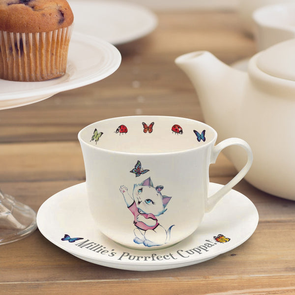 Nina Kitten Purrfect Cuppa Cup & Saucer