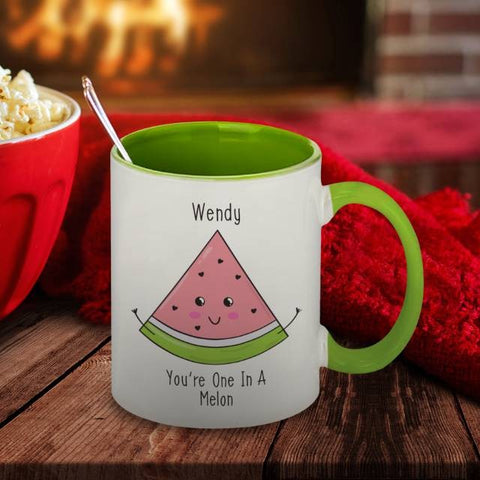 One In A Melon Green Inside Mug | ShaneToddGifts.co.uk
