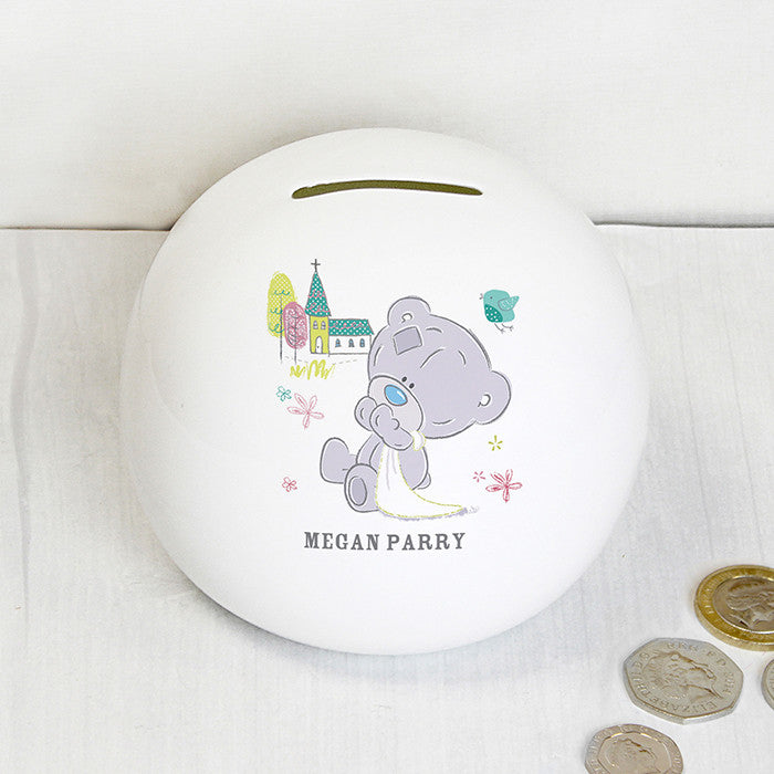 Personalised Tiny Tatty Teddy Christening Money Box