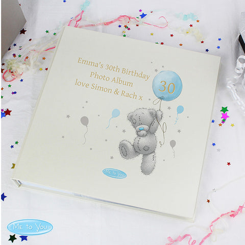 Personalised Me To You Blue Balloon Album with Sleeves - Shane Todd Gifts UK
