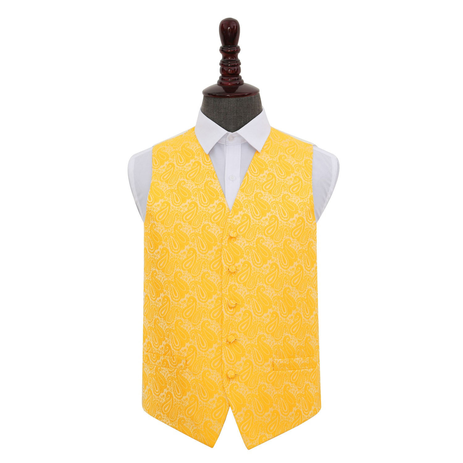 Paisley Waistcoat - Gold, 40', Clothing by Low Cost Gifts