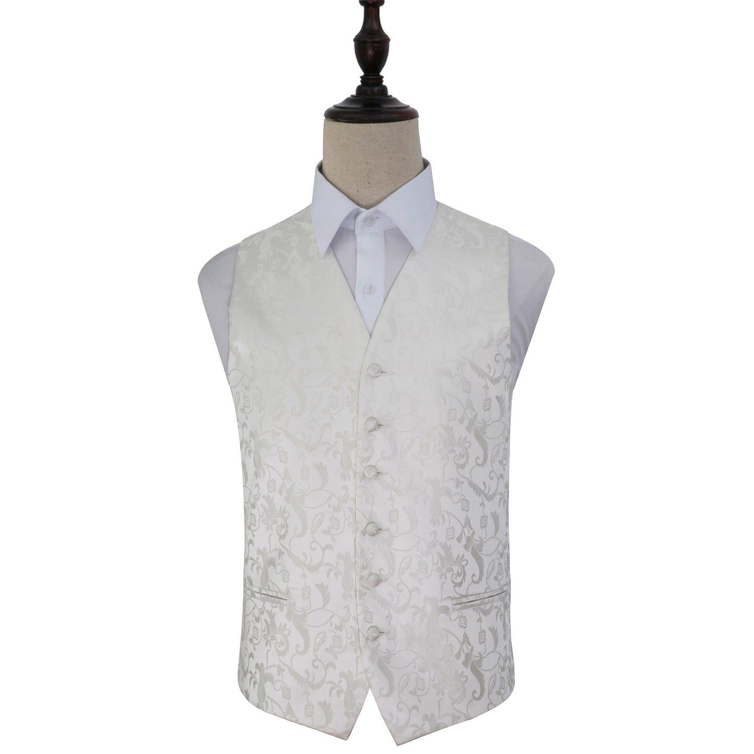 Passion Waistcoat - Ivory, 36', Clothing by Low Cost Gifts