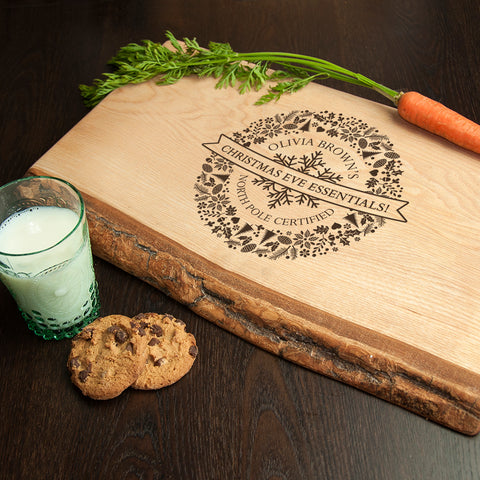 Personalised Christmas Eve Welsh Ash Platter - Large - Shane Todd Gifts UK