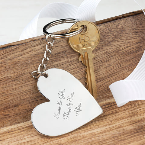 Personalised Heart Key Ring | ShaneToddGifts.co.uk