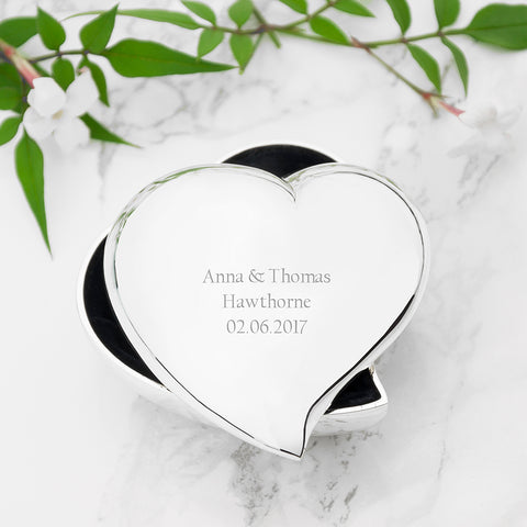Personalised Miniature Heart Trinket Box