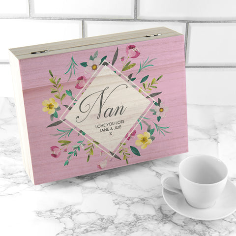Personalised Botanical Mother's Day Tea Box | ShaneToddGifts.co.uk