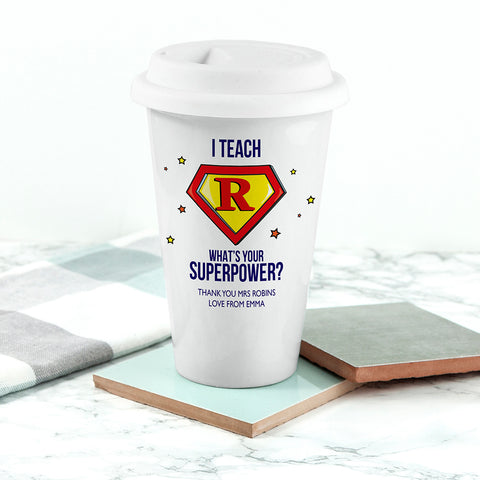 Personalised Super Teacher Travel Mug