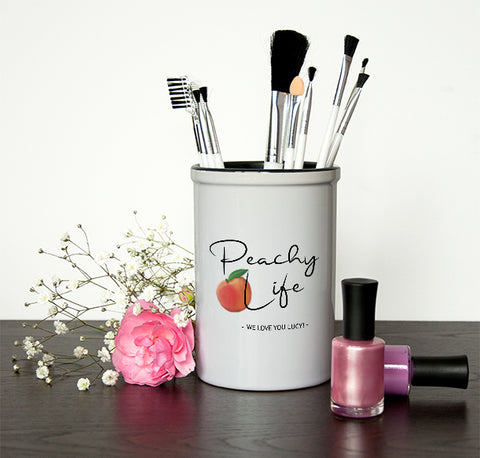Ceramic Holder Peachy Life Brush Holder