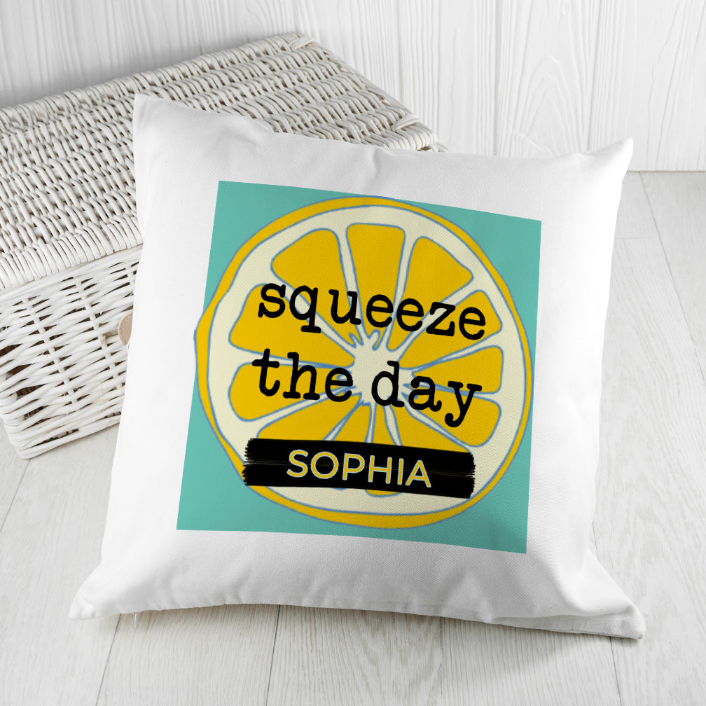 Squeeze The Day Cushion Cover, Home & Garden by Low Cost Gifts