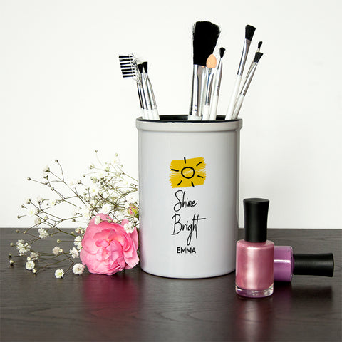 Ceramic Holders Shine Bright Brush Holder