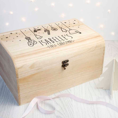 Personalised Baby's First Christmas Eve Chest - Large - Shane Todd Gifts UK