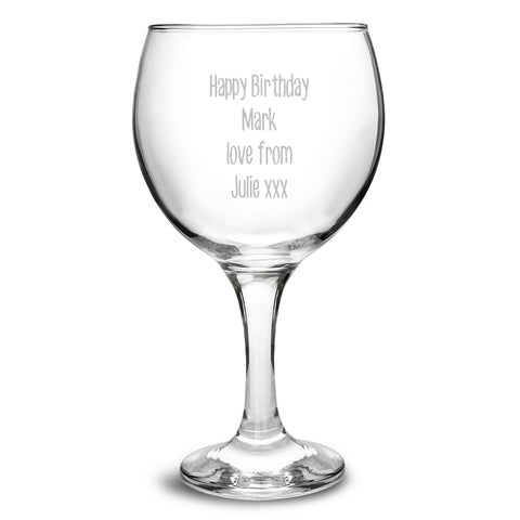 Personalised Balloon Gin Glass - Shane Todd Gifts UK