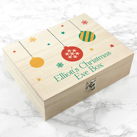 Personalised Bauble Christmas Eve Box- Small