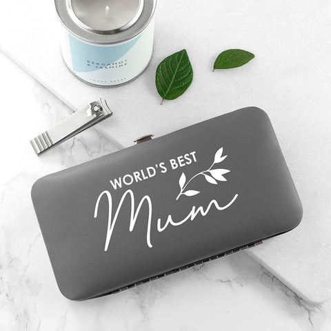 Personalised Best Mama Manicure Set - Grey