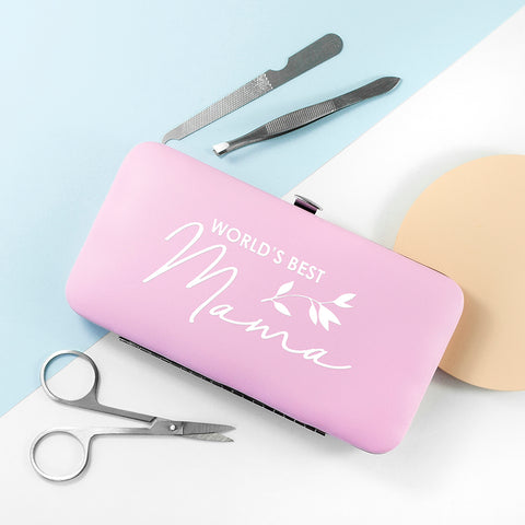 Personalised Best Mama Manicure Set - Pink