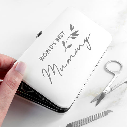 Personalised Best Mama Manicure Set - White