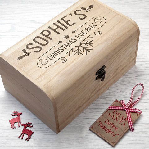 Personalised Christmas Eve Chest - Small - Shane Todd Gifts UK