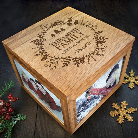 Personalised Christmas Memory Box Traditional Design
