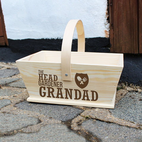 Personalised Head Gardener Trug - Shane Todd Gifts UK