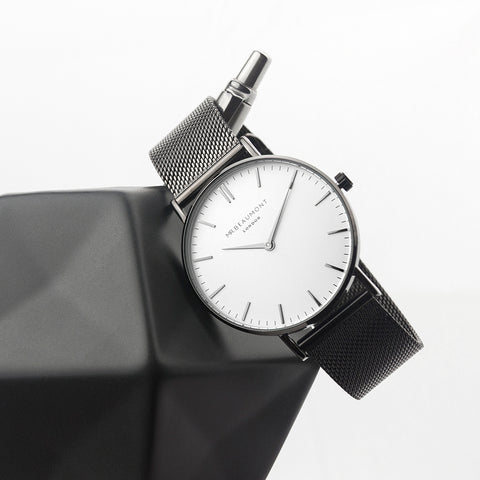Personalised Men's Metallic Charcoal Grey Watch by Mr Beaumont