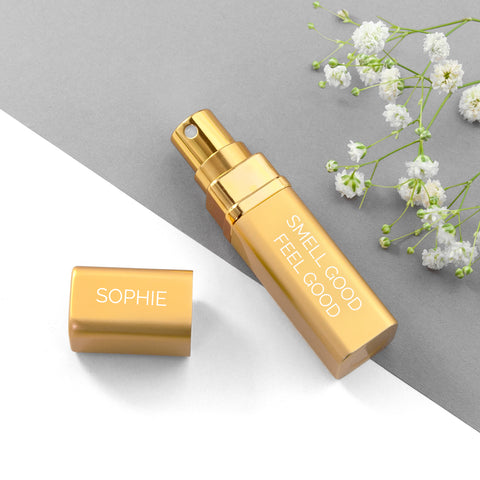 Personalised Perfume Atomiser - Gold