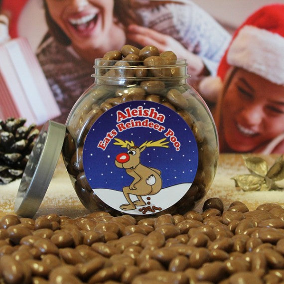 Personalised Reindeer Poo Jar -  Personalised  Christmas Gifts