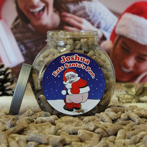 Personalised Santa's Poo Jar -  Personalised  Christmas Gifts