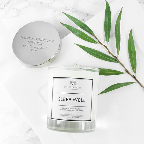 Willow & Light Personalised Sleep Well Candle