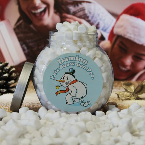 Personalised Snowman Poo Jar -  Personalised  Christmas Gifts