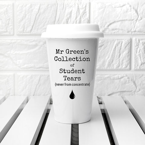 Personalised Students Tears Travel Mug