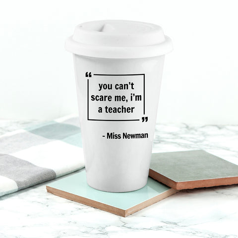 Personalised Words of Wisdom Travel Mug