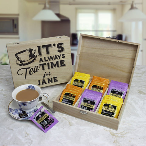 Personalised Tea Chest - British Classics
