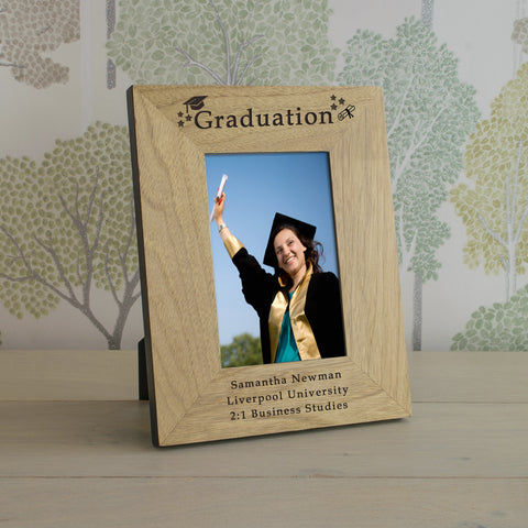 Graduation Wood Frame 6x4 - Shane Todd Gifts UK