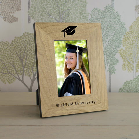 Personalised Graduation Wooden Frame 4x6 & 6x4 | Gifts24-7.co.uk