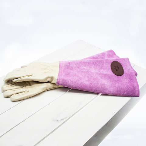 Pink Leather Gardening Gloves | ShaneToddGifts.co.uk