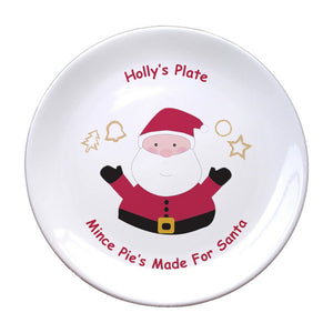 "Mince Pies for Santa 8"" Bone China Coupe Plate"