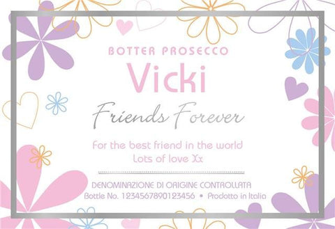 Friends Forever Prosecco in a Gold Box | ShaneToddGifts.co.uk