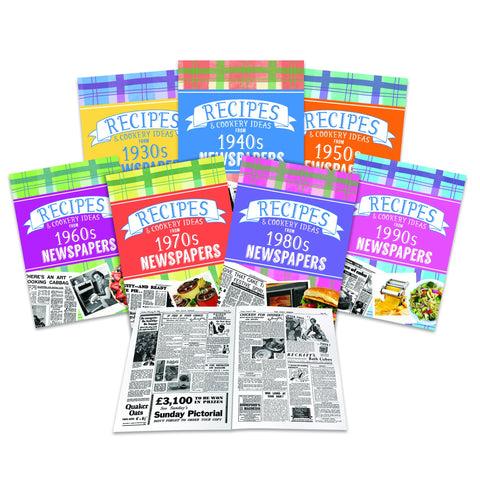 Recipes & Cooking Ideas Newspaper Softback Book | Gifts24-7.co.uk
