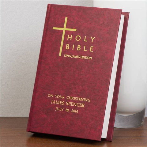 King James Bible - Burgundy Cover | Gifts24-7.co.uk