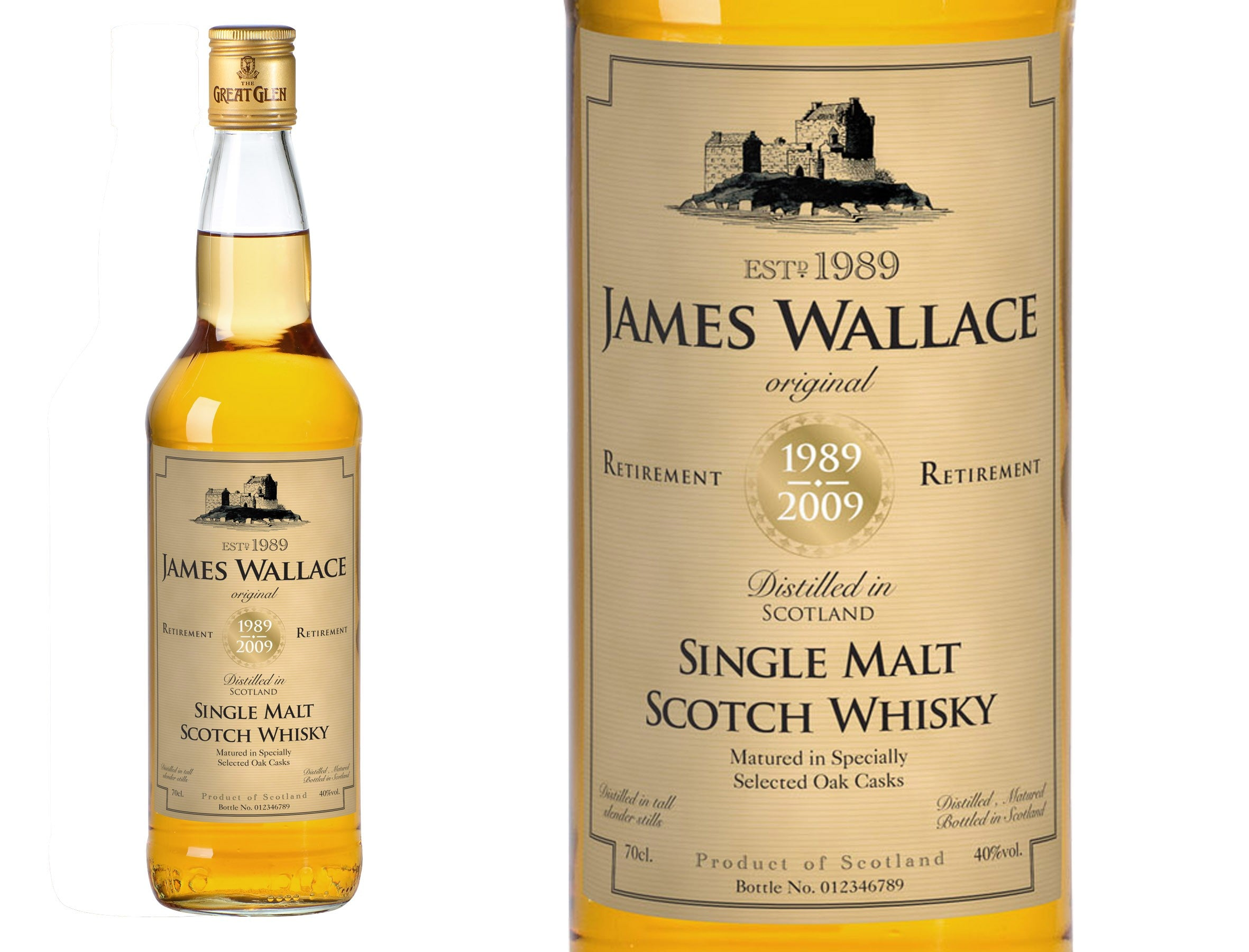 Retirement Personalised Single Malt Whisky, Whisky by Low Cost Gifts