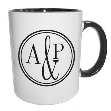 Monogram Circle Black Sub Mug - Shane Todd Gifts UK